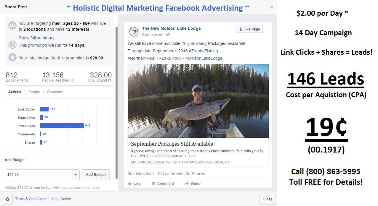 Facebook Adverting Result for Small Businesses